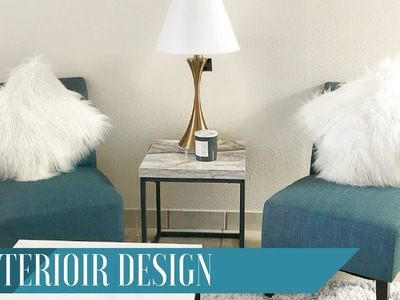 Interior Design | DIY Marble Top & Putting together Accent Chairs