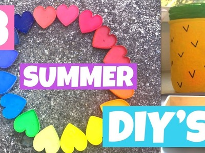 IT'S SUMMER! 3 DIY Crafts to make your summer more Epic!!!