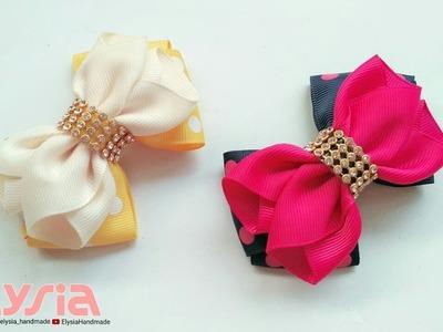 Laço Cruzado Ruffle ???? Ribbon Bow ???? DIY by Elysia Handmade