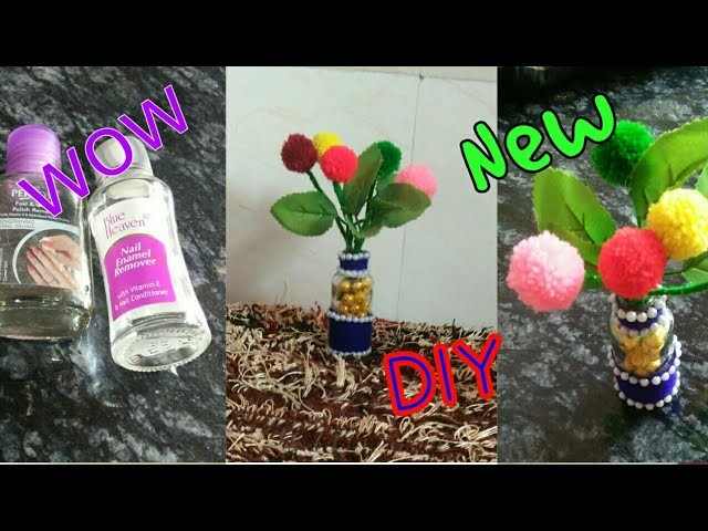 New DIY : Empty nail polish bottle reuse idea! Beautiful flower vase! Best out of waste reuse craft!