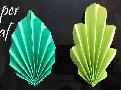 Paper leaf making video-  easy -  a4 colour paper- 01
