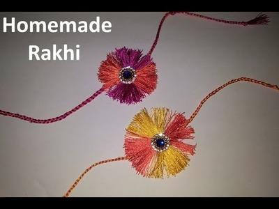 Rakhi   How to made Silk Rakhi at home   घरी राखी बनवण्याची सोपी पद्धत
