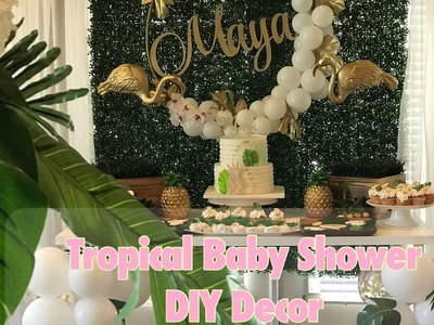 Aloha Baby| DIY Tropical themed baby shower