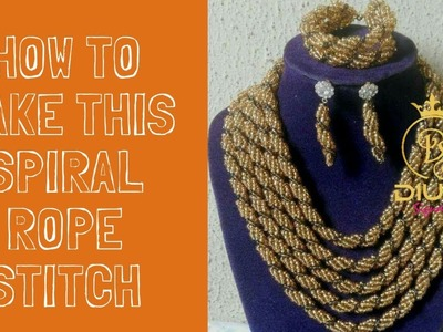 Bead tutorial. How to make spiral rope stitch