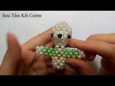 Beads - How to make keyachains: rabbit 2.4 (Kết cườm con thỏ)