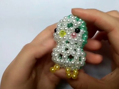 Beads - How to make keychains: birds 2.2 - Con chim hạt cườm