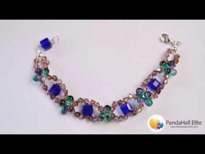 Beebeecraft tutorials on glass beads bracelet