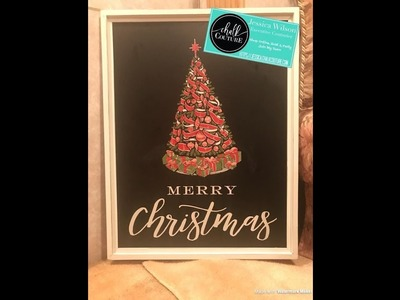 Chalk Couture  Christmas In July Week  Vintage Christmas Tree on Greyson 18X24 Board