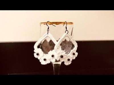 Crochet Earrings With Flowers | Truc Nguyen Handmade.