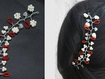 DIY.Beautiful hair vine. Easy and simple hair accessory #Malinicreation
