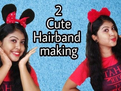 DIY  Cute Hairband  Making|DIY hair accessories|Handmade Hair Accessories |ArtHolic KM