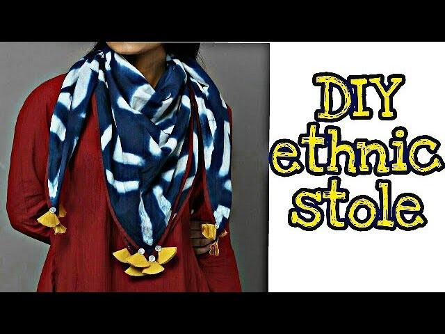 DIY Ethnic stoles.scarves for traditional & indo western dresses.outfit