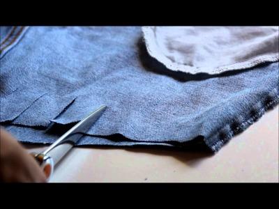 DIY How to make a fringe hot short