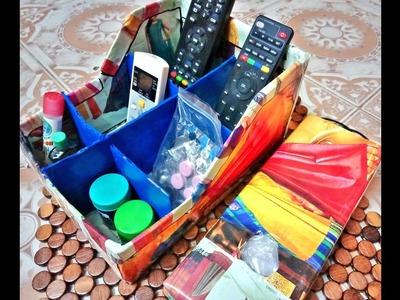 DIY Organizer For Kitchen|Reuse Old Cardboard Into Organizer & Holder|DIY Ideas In Tamil