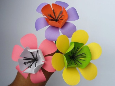 DIY: Paper Flower!!! How to Make Beautiful Flower With Colour Paper!!! Easy Tutorial For Bigginers!!