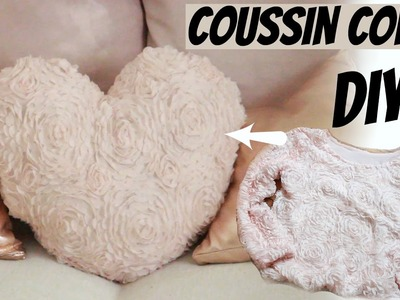 ✮ DIY ✮ Transformer un sweat en coussin coeur | Upcycling Sweat Shirt | Caly Beauty