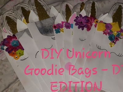 DIY Unicorn Birthday Goodie Bags -DT Edition