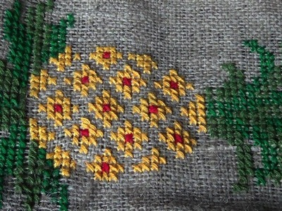 Hand Embroidery Work: Cross Stitch Embroidery