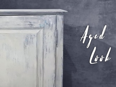 How to get that aged look with thinning shades and light runny paint - Chalk paint