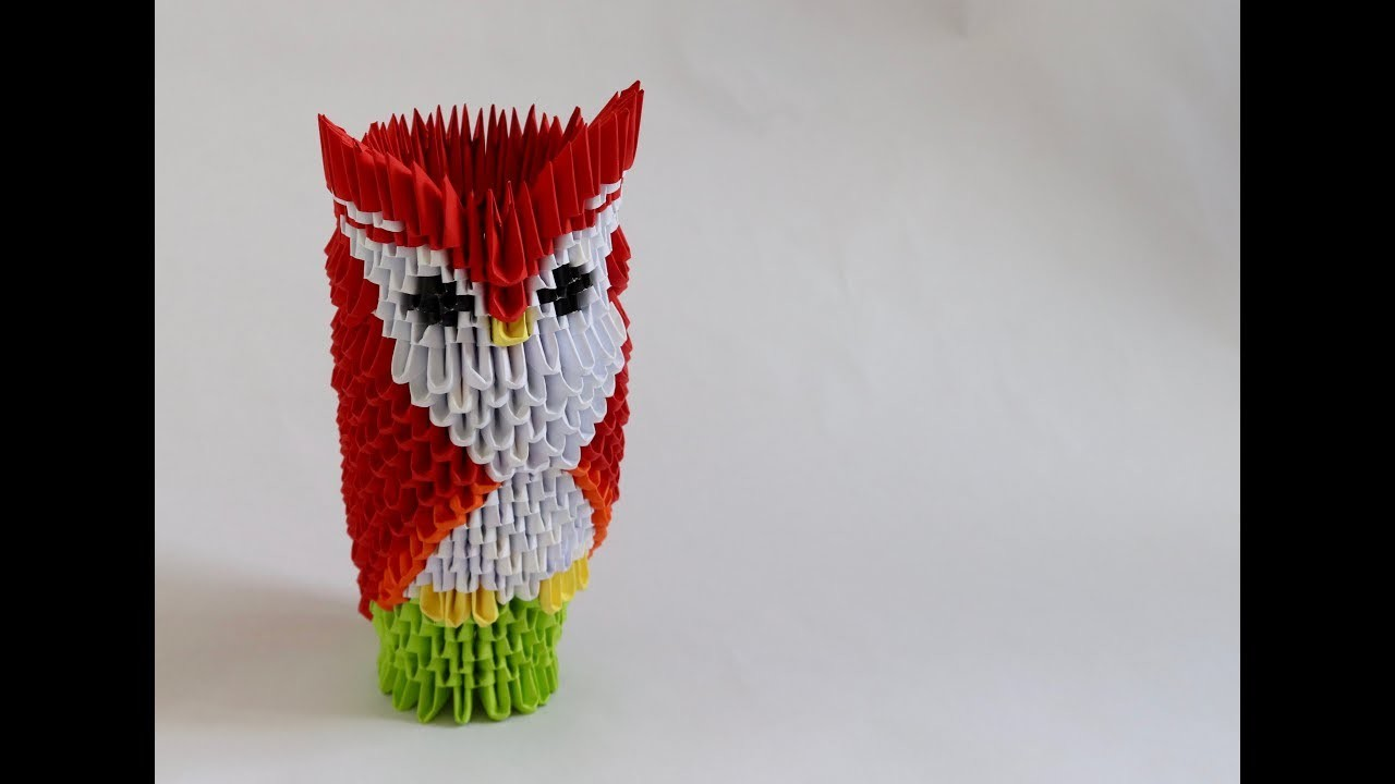 How to make a 3D origami owl