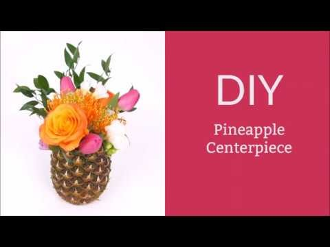 How To Make A DIY Pineapple Centerpiece