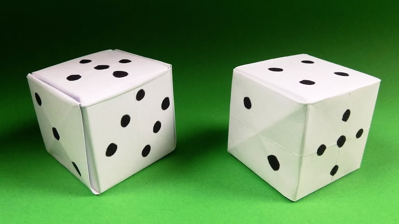 how to make an origami dice paper dice step by step