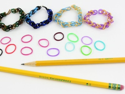 How to Make AWESOME Rainbow Loom Bands with 2 Pencils ✏️✏️