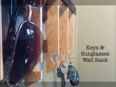 Making a Wooden Keys & Sunglasses Wall Rack