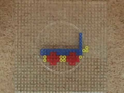 Making Baby Mozart Country Train Carriage 1 Out Of Hama Beads