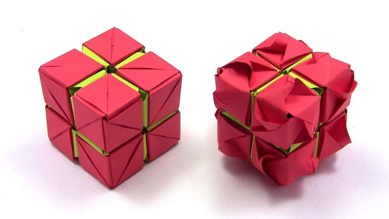 Origami Rose Cube Kusudama By Yakomoga In English Yakomoga Easy