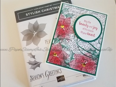 Quick Christmas Card Stylish Christmas Stampin' Up!