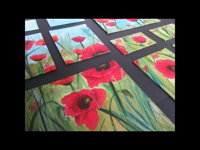 Acrylic Pour Paper Crafts