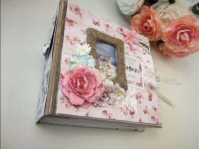 Santorini Photo Album, Handmade Gift, Travel Album