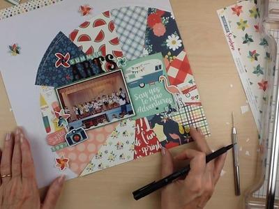 Scrapbook Process #235: Summer Arts (My Creative Scrapbook)