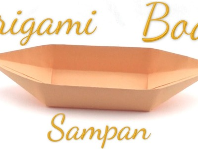 Simple Origami Sampan Boat Tutorial (Hyo Ahn)