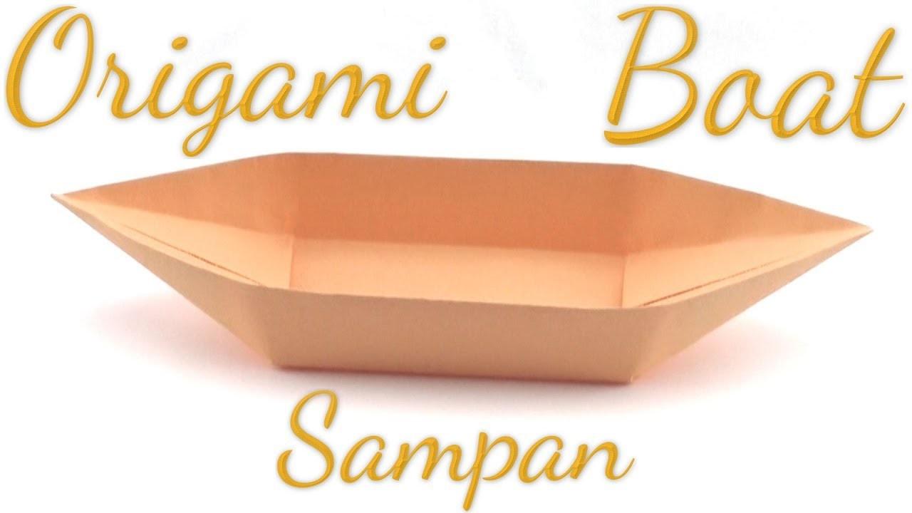 Simple Origami Sampan Boat Tutorial (Hyo Ahn)