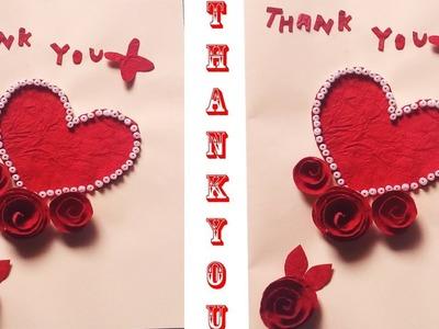 Thank you card ideas | How to make Thank you card design handmade