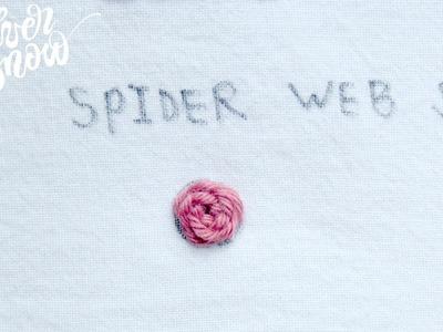 [프랑스 자수] 스파이더 웹 스티치 Spider web stitch, hand embroidery stitch tutorial