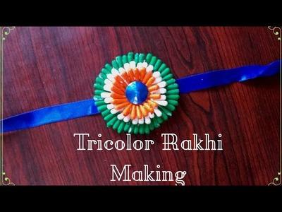 Tri colour Rakhi making tutorial || Tiranga Rakhi || for kids and beginners
