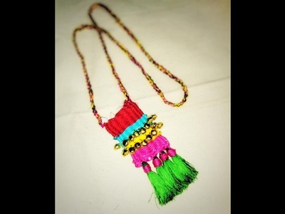 TUTORIAL FOR MAKING BOHO STYLE WOVEN NECKLACE