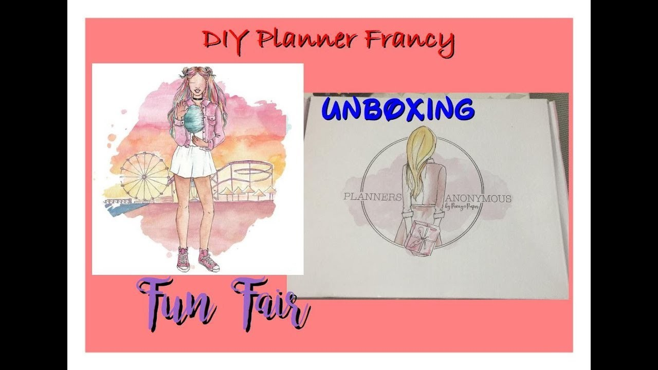 Unboxing planners anonymous fun fair planner kit for Planners anonymous