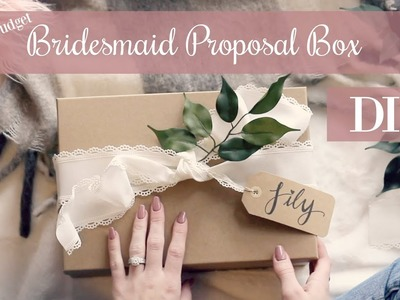 Wedding Party Proposal Boxes   WILL YOU BE MY BRIDESMAID?   DIY