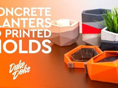 3D Printed Concrete Planter Mold. Anet A6. Molde Maceteros de Cemento impresos en 3D