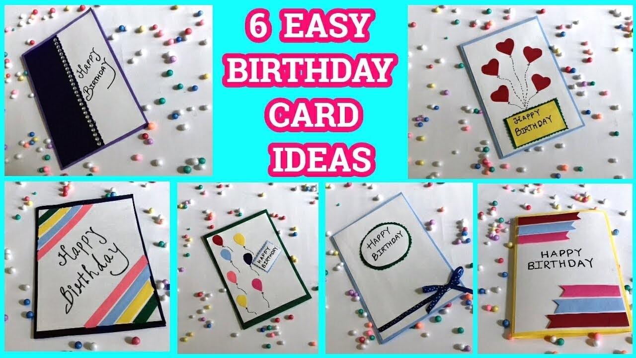 6 Easy Birthday Card Ideas By Sangitaa Rawat