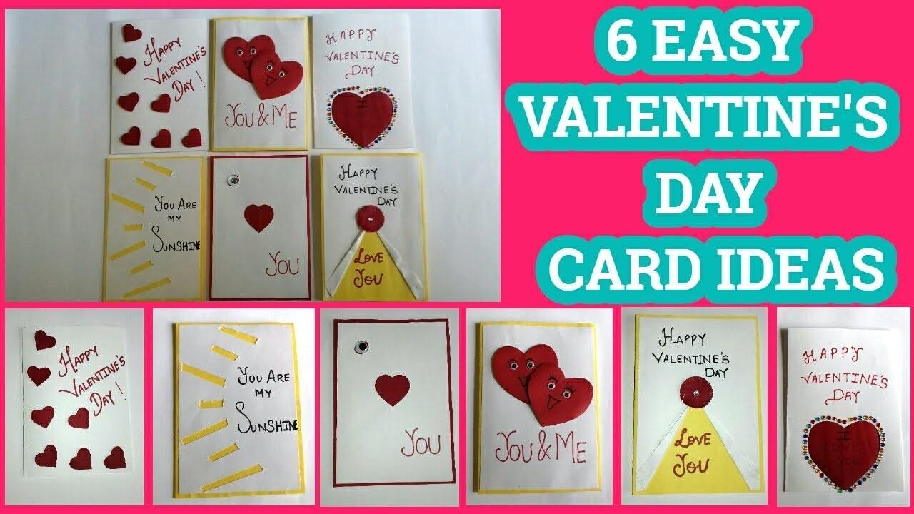 6 Easy Valentines Day Card Ideas By Sangitaa Rawat Valentine Special
