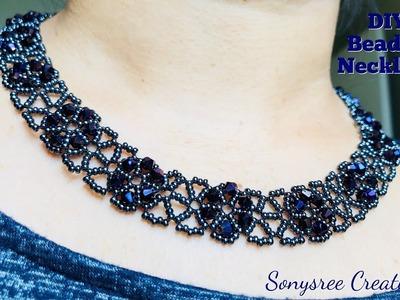 Beaded Chocker Necklace.DIY Beaded Necklace ????