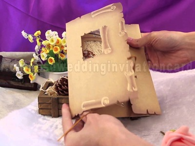 Beautiful invitation card with special technical