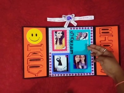Birthday card fr bestfriend. . #Zig zag folding card # greeting card Kam photo album. ????