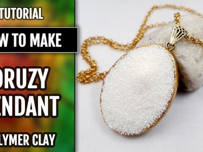 "Claire Randall's Pendant - Inspired by ""Outlander""!  Faux White Druzy Stone from Polymer Clay!"