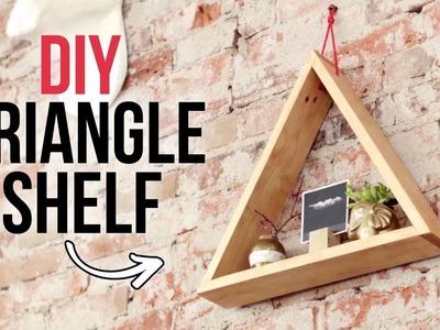 DIY Triangle Shelf - Easy Woodworking Project - HGTV Handmade